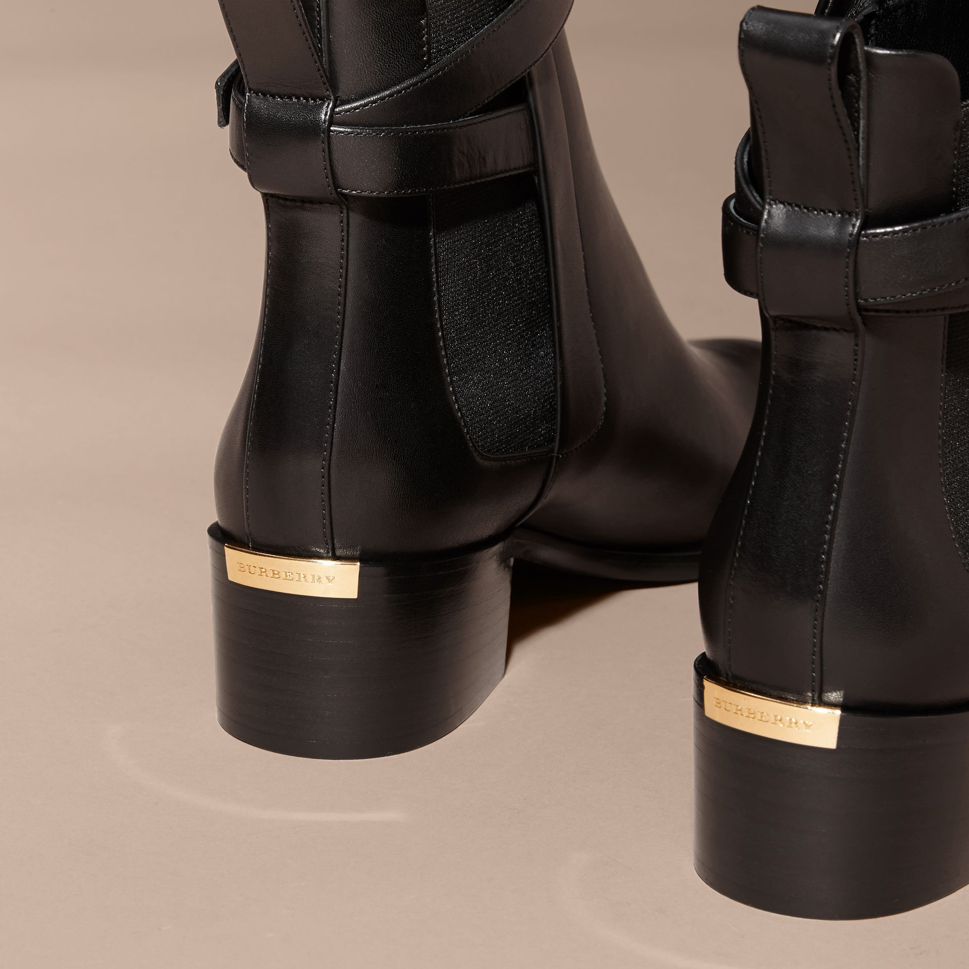 Buckle Detail Leather Chelsea Boots - gallery image 4