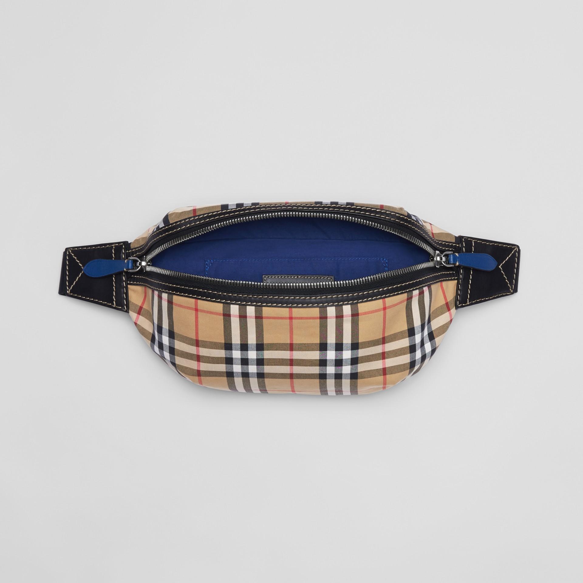 Medium Vintage Check Bum Bag in Canvas Blue - Men | Burberry - gallery image 5