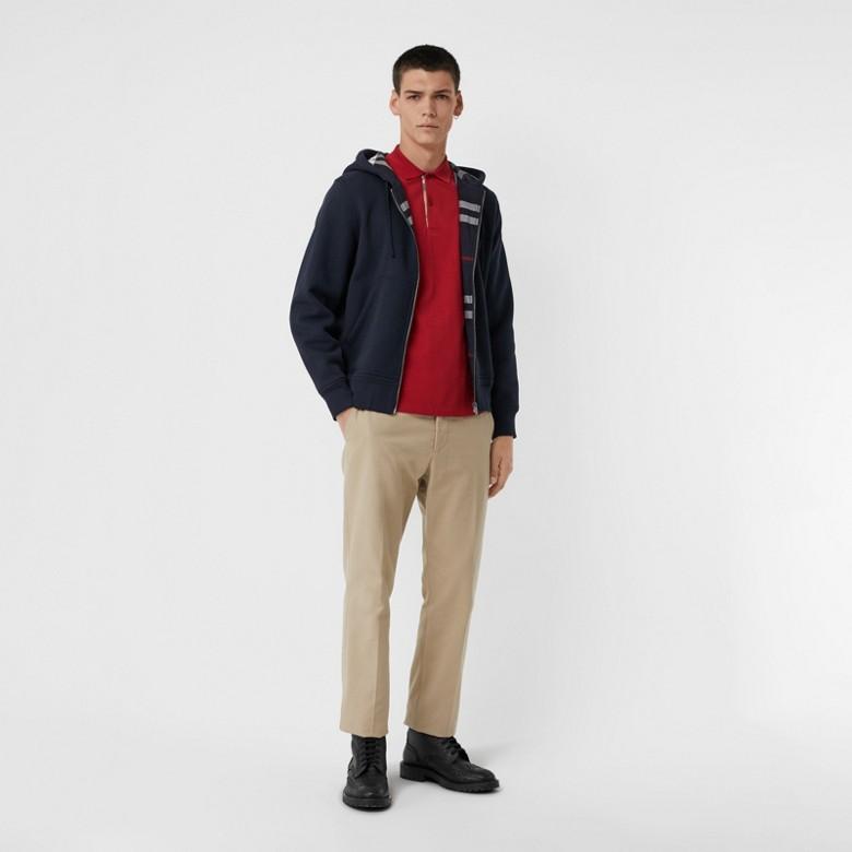 Burberry - Haut en jersey à capuche avec détails check - 1