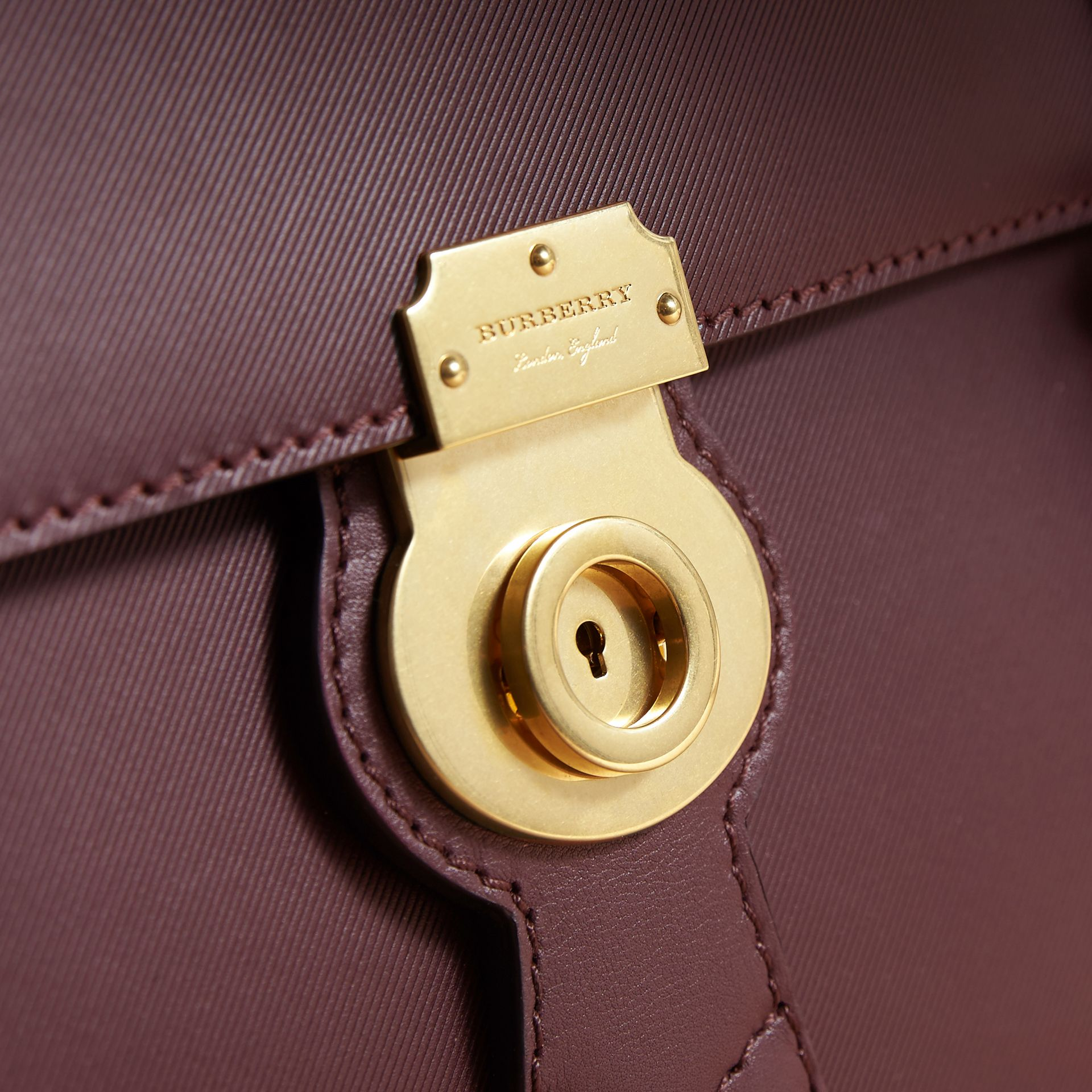 The Medium DK88 Satchel in Wine - Men | Burberry Singapore - gallery image 2