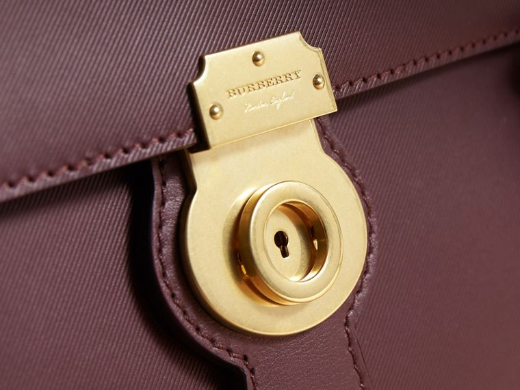 The Medium DK88 Satchel in Wine - Men | Burberry Hong Kong - cell image 1