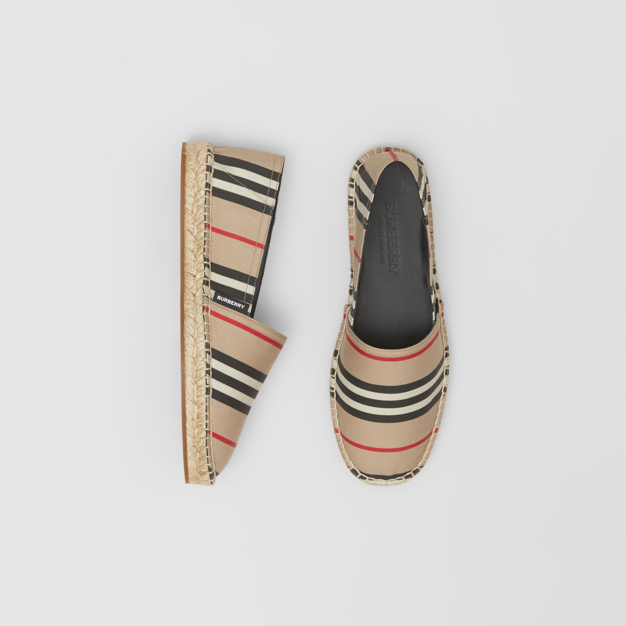 Espadrillas con iconico motivo a righe (Beige Archivio) - Donna | Burberry - 1