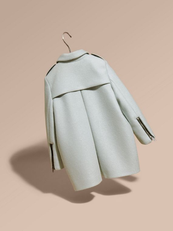 Zip Detail Wool Coat in Pale Eucalyptus - cell image 3