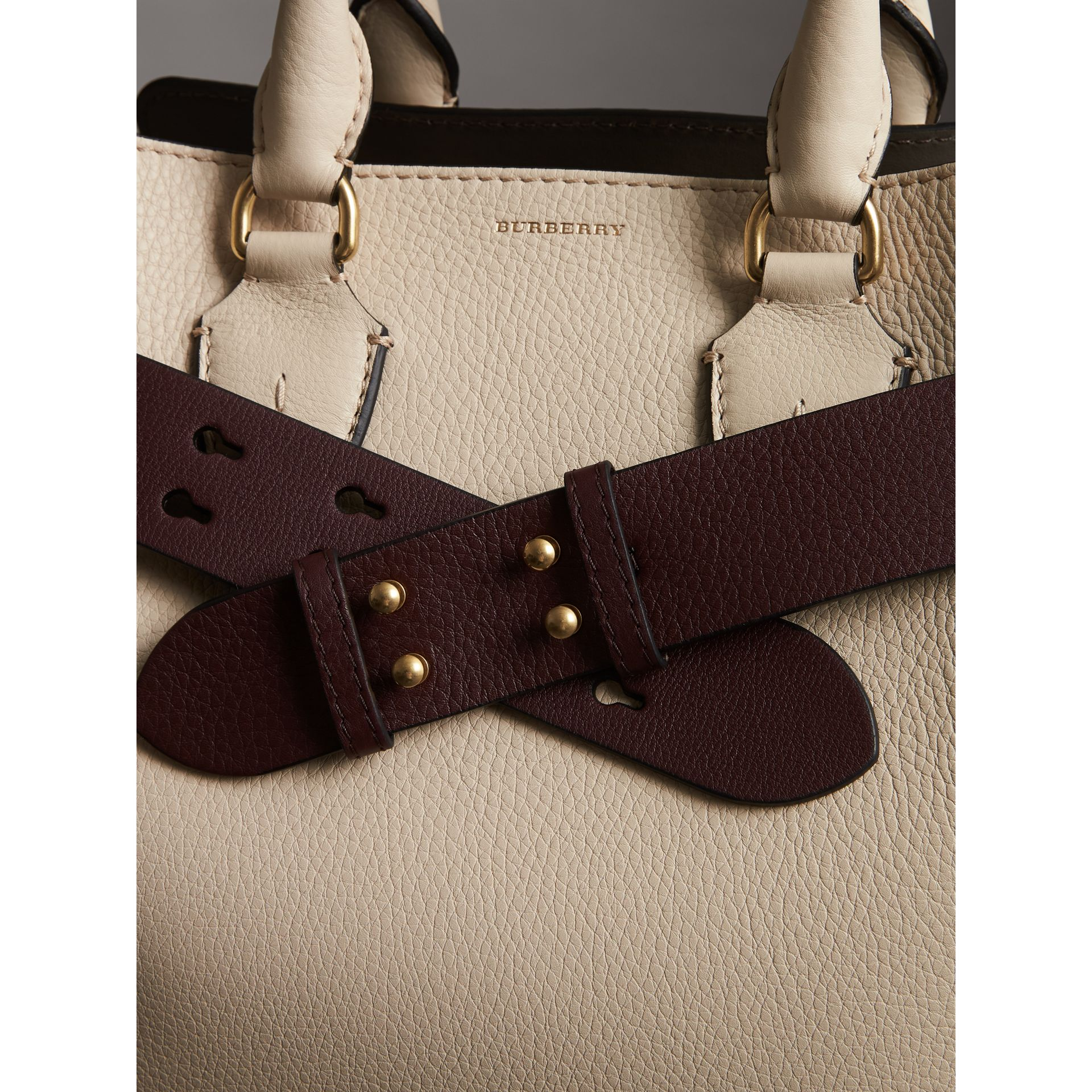 The Small Belt Bag Grainy Leather Belt in Deep Claret - Women | Burberry - gallery image 2