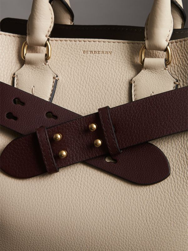 The Small Belt Bag Grainy Leather Belt in Deep Claret - Women | Burberry Australia - cell image 3