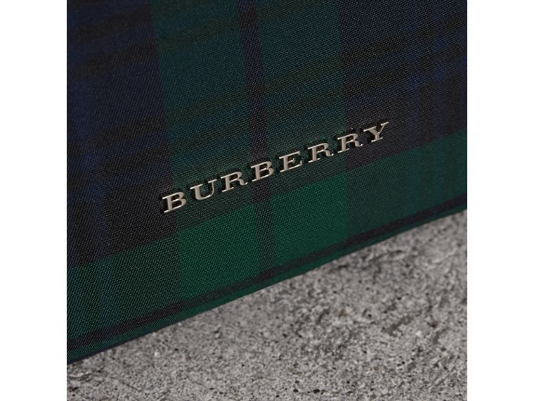 Zip-top Leather Trim Tartan Backpack in Forest Green - Men | Burberry Singapore - cell image 1