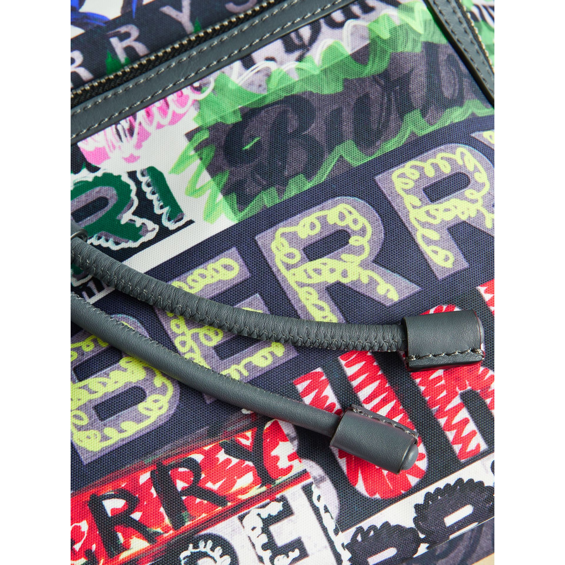 The Large Rucksack in Graffiti Logo Print in Multicolour | Burberry Australia - gallery image 1