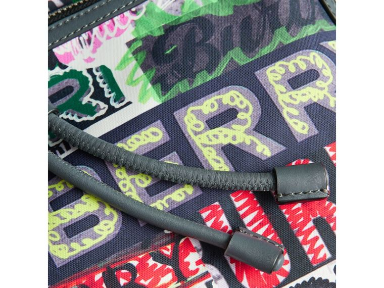 The Large Rucksack in Graffiti Logo Print in Multicolour | Burberry Australia - cell image 1