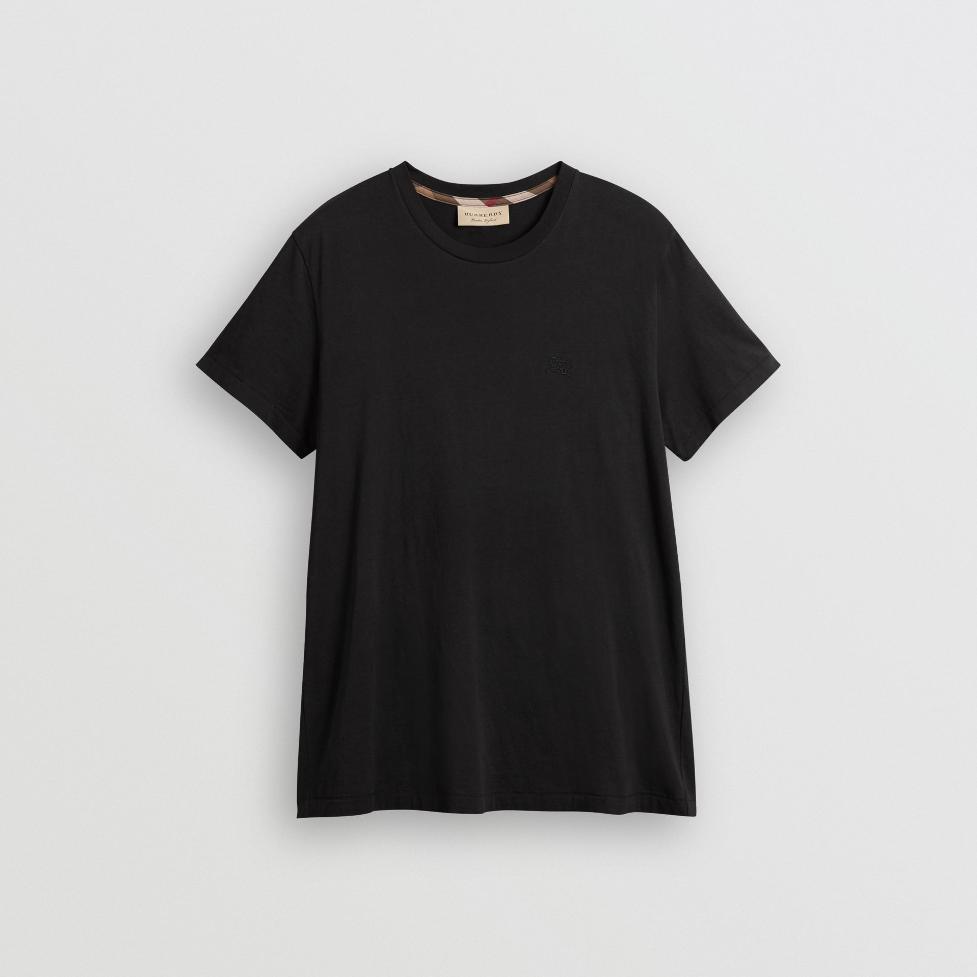 Cotton Jersey T-shirt in Black - Men | Burberry United States - gallery image 3