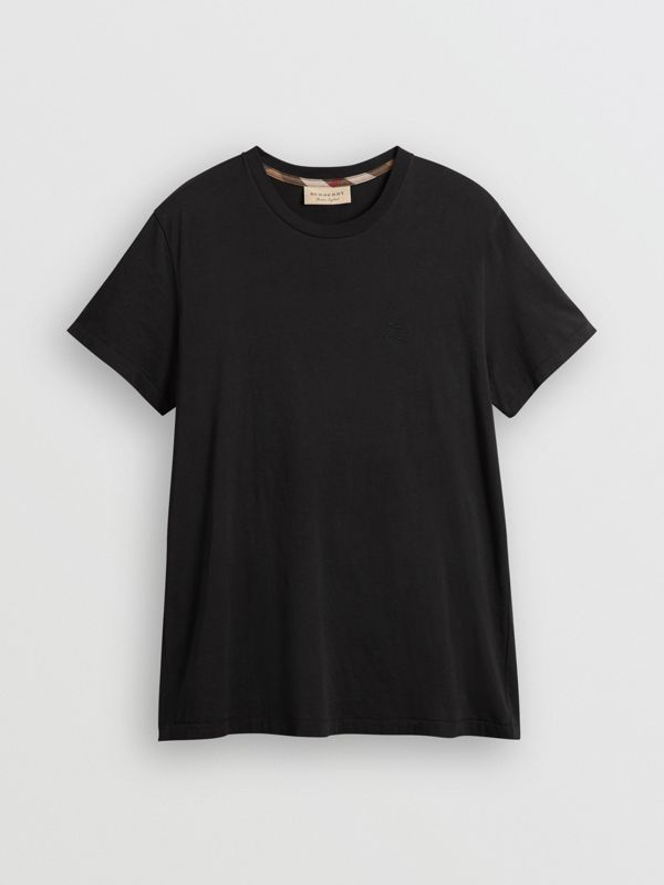 Cotton Jersey T-shirt in Black - Men | Burberry United States - cell image 3