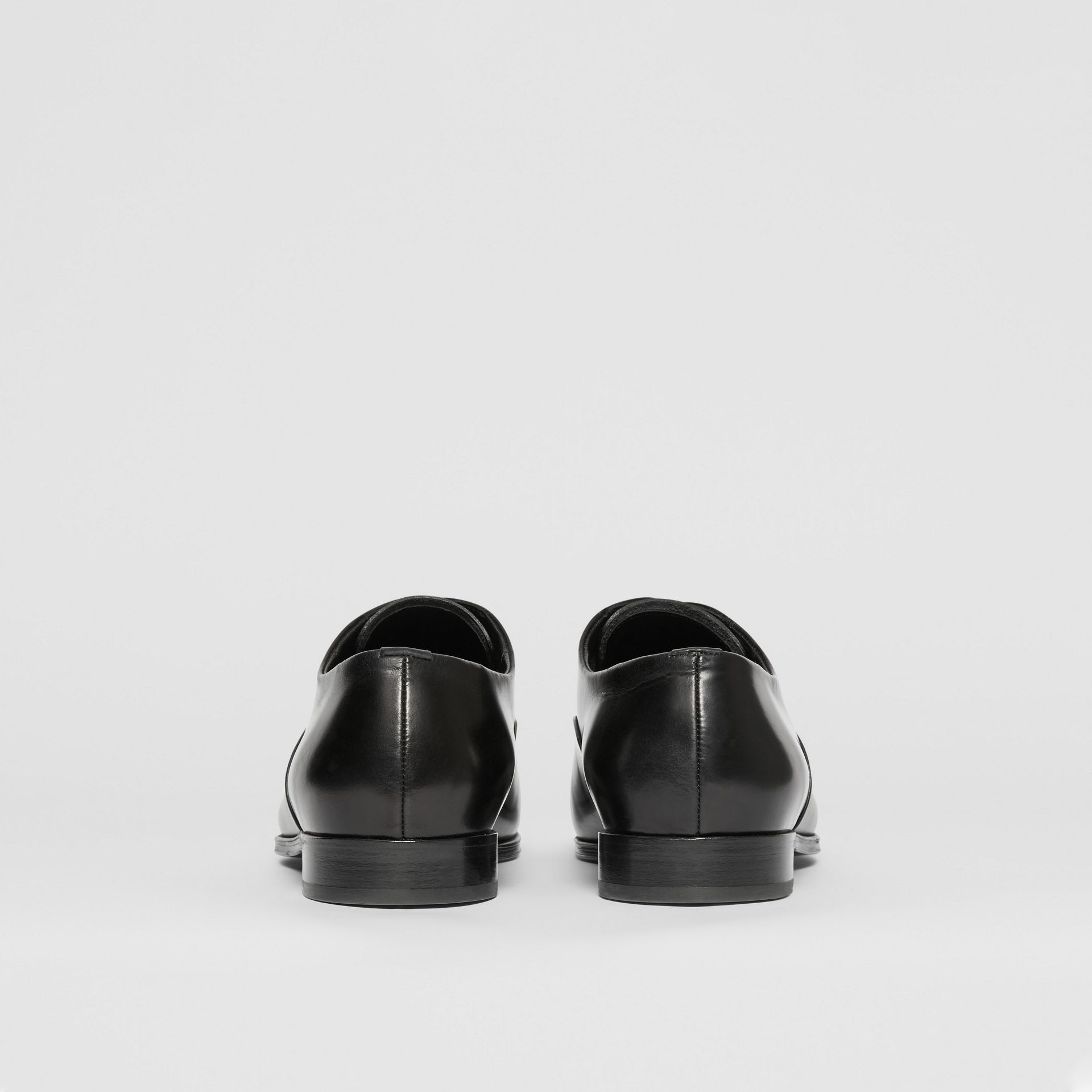 Leather Oxford Shoes in Black - Men | Burberry United Kingdom - gallery image 3