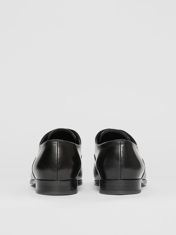 Leather Oxford Shoes in Black - Men | Burberry United Kingdom - cell image 3