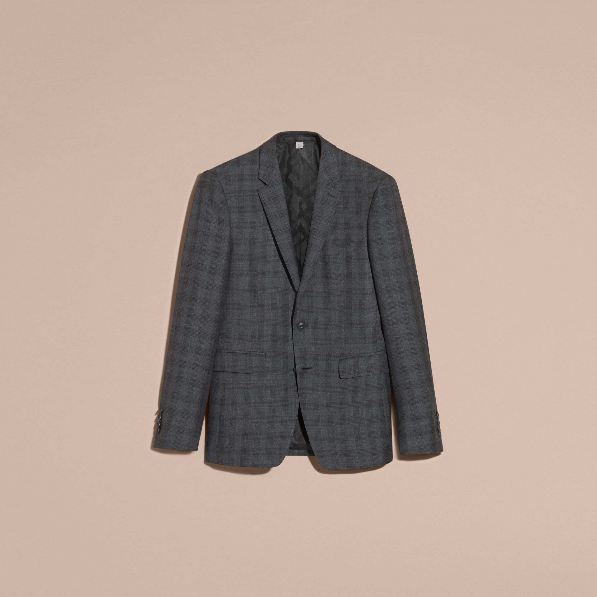 Slim Fit Wool Silk Linen Three-piece Part-canvas Suit - gallery image 4