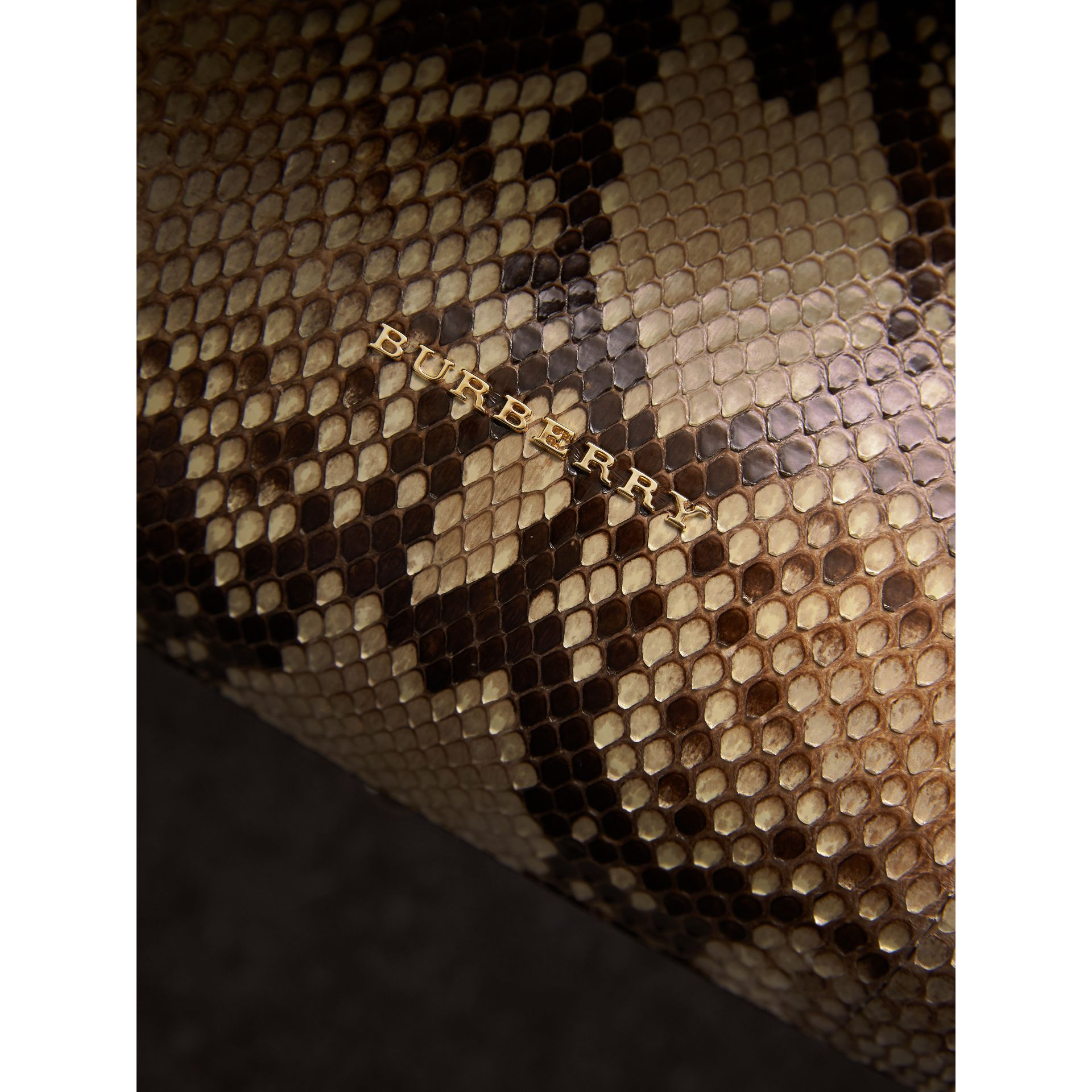 The Medium Banner aus Pythonleder (Naturfarben) - Damen | Burberry - Galerie-Bild 1