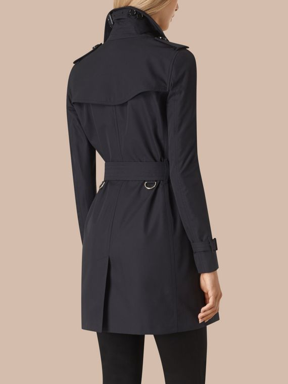 Navy Cotton Gabardine Trench Coat - cell image 3