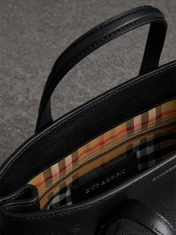 The Small Banner in Leather in Black - Women | Burberry United Kingdom - cell image 3