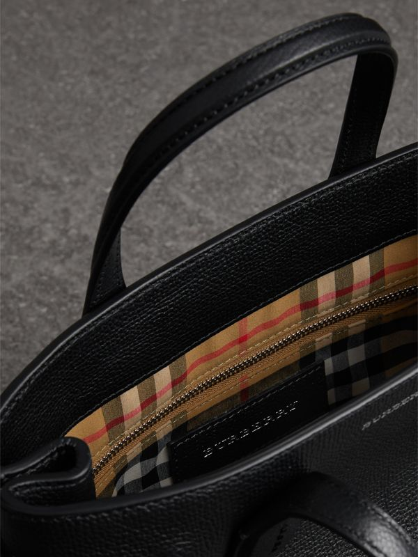 The Banner piccola in pelle con dettagli Vintage check (Nero) - Donna | Burberry - cell image 3
