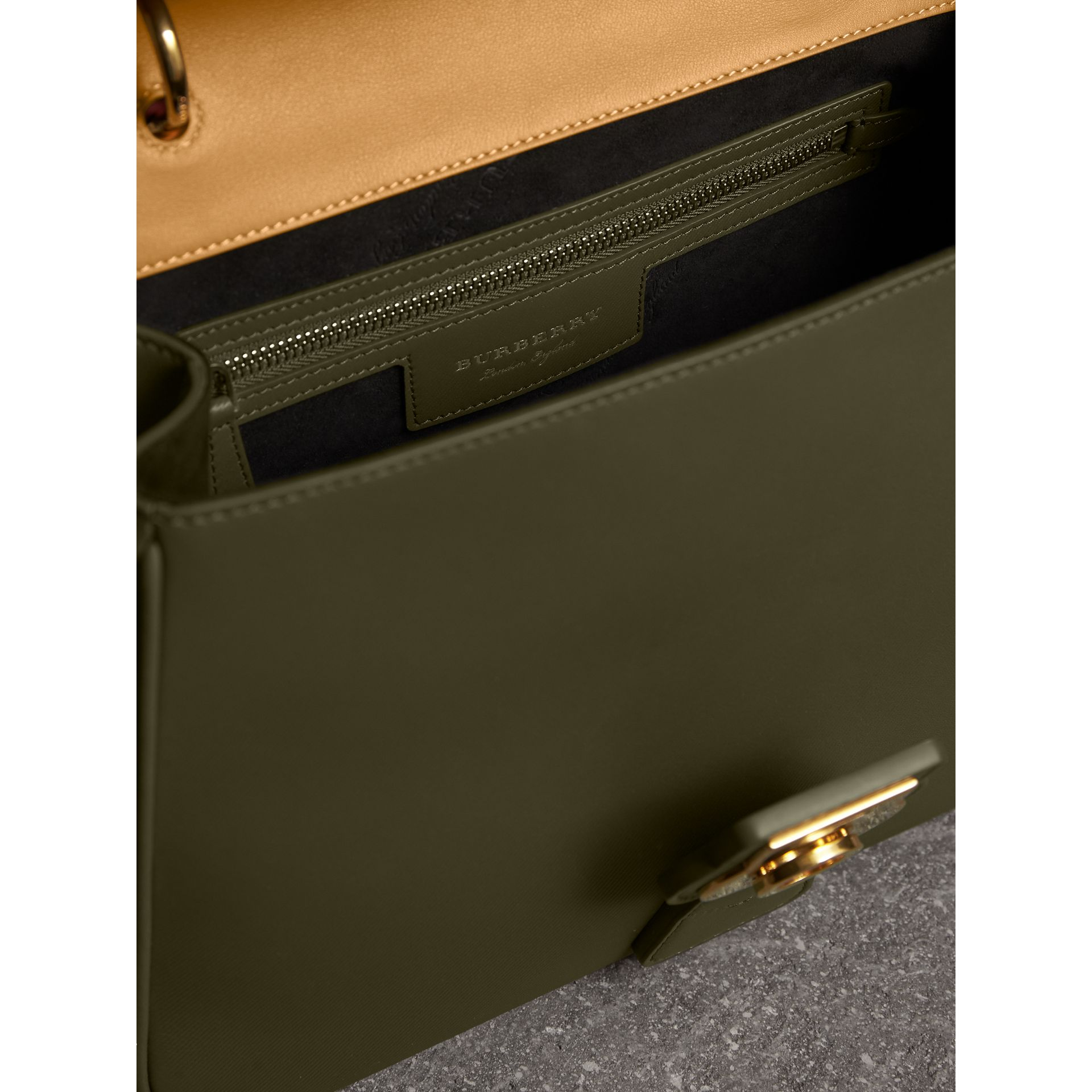 The Medium DK88 Top Handle Bag in Moss Green/ochre Yellow - Women | Burberry - gallery image 5