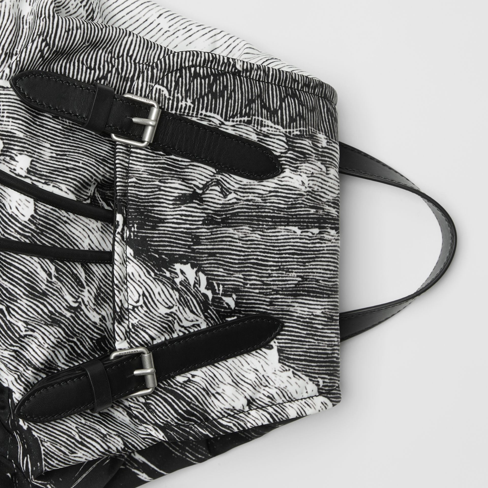 The Medium Rucksack in Dreamscape Print in Black - Women | Burberry - gallery image 1