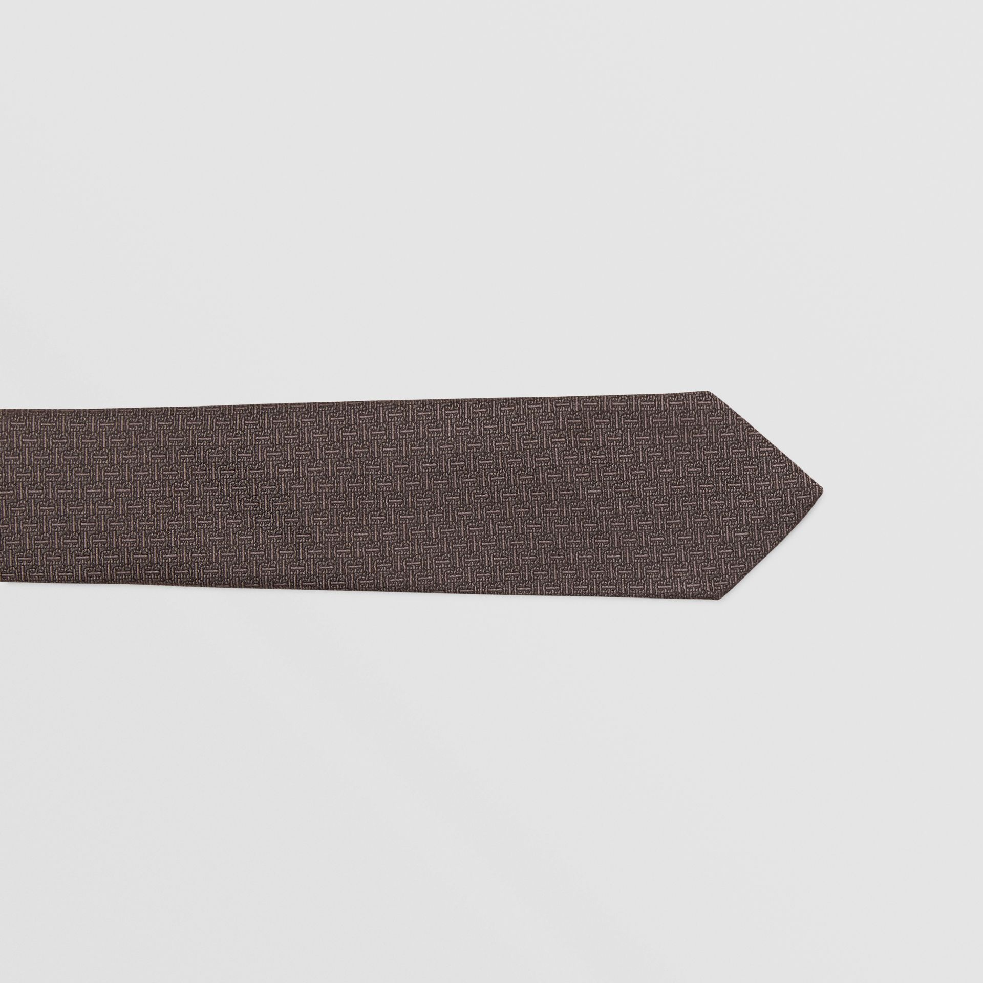 Classic Cut Monogram Silk Jacquard Tie in Charcoal - Men | Burberry - gallery image 1