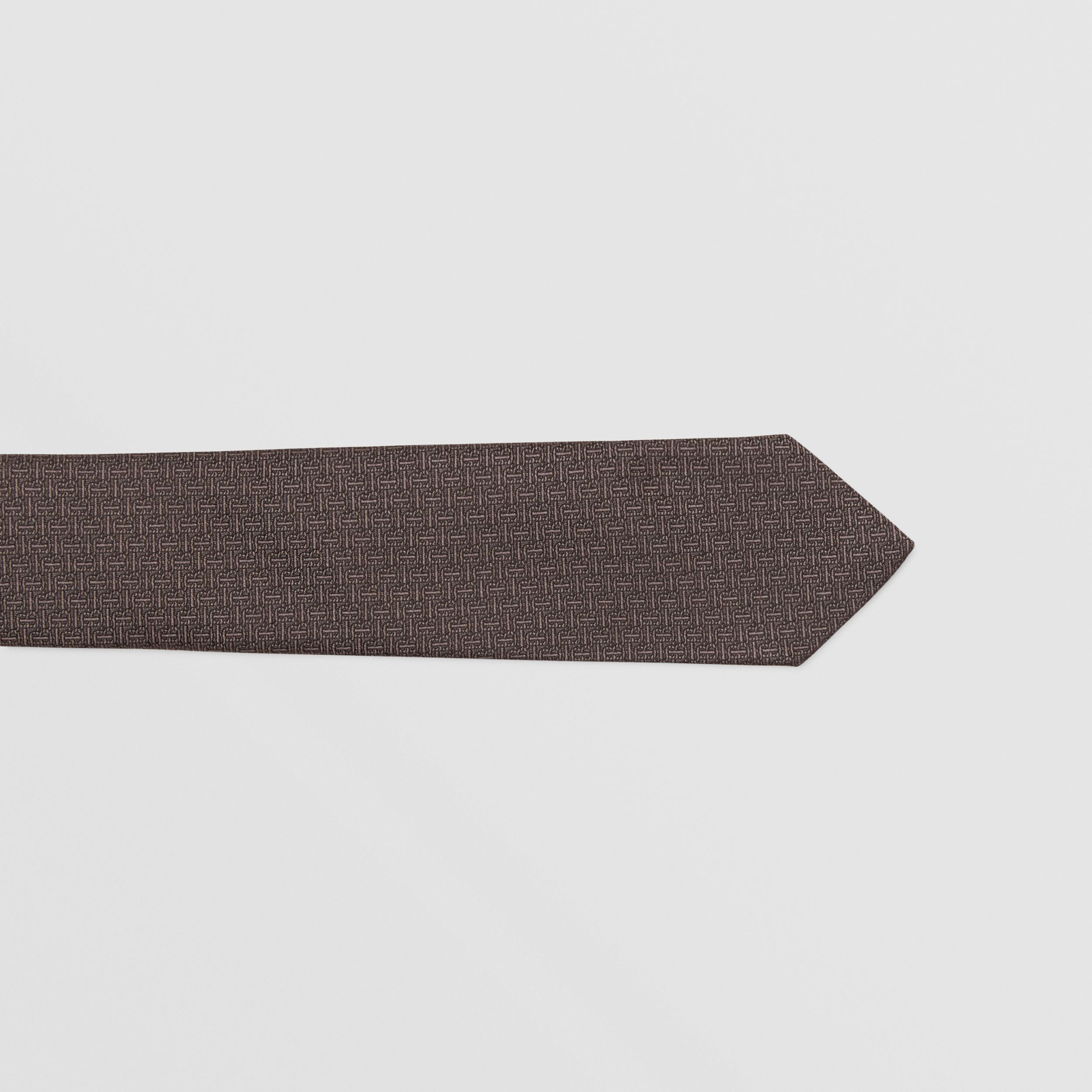 Classic Cut Monogram Silk Jacquard Tie in Charcoal - Men | Burberry - 2