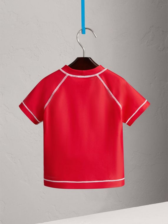 Contrast Seam Rash Top in Poppy Red | Burberry - cell image 3