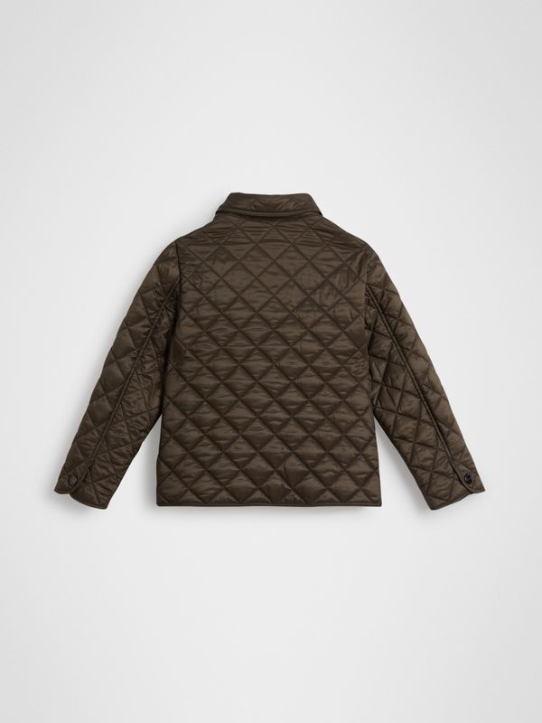 Lightweight Diamond Quilted Jacket in Oregano | Burberry United Kingdom - cell image 3