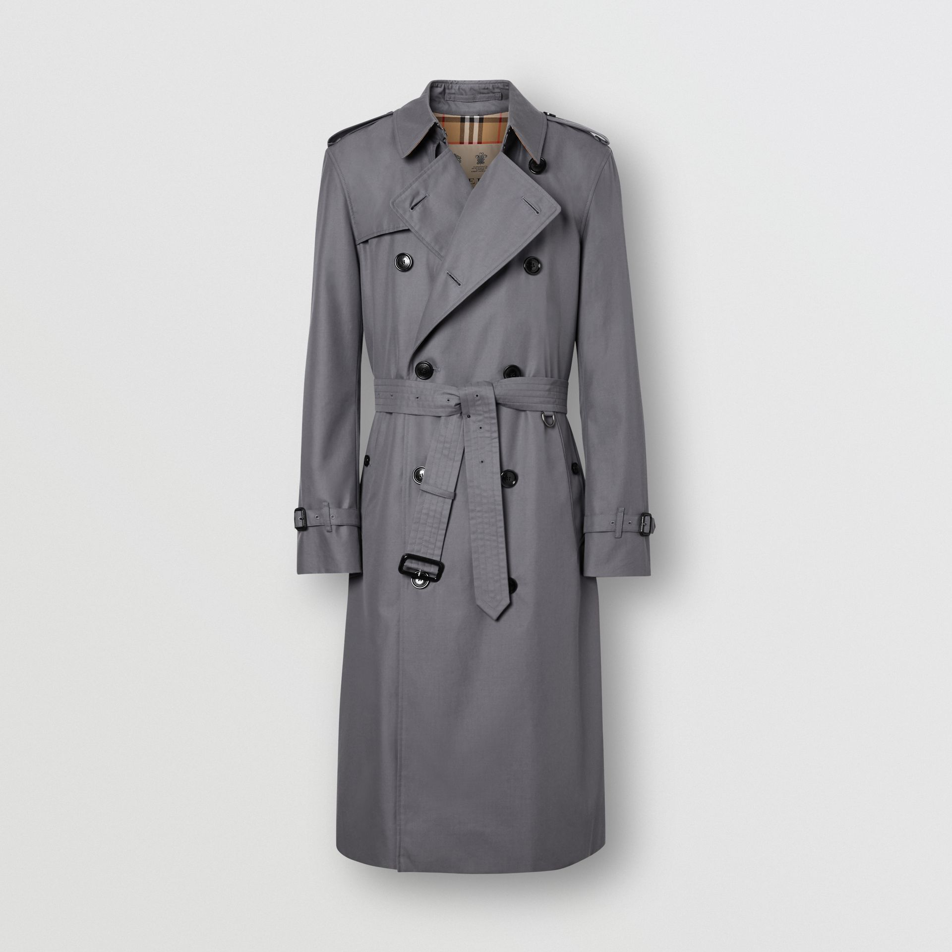 The Long Chelsea Heritage Trench Coat in Mid Grey - Men | Burberry United Kingdom - gallery image 3