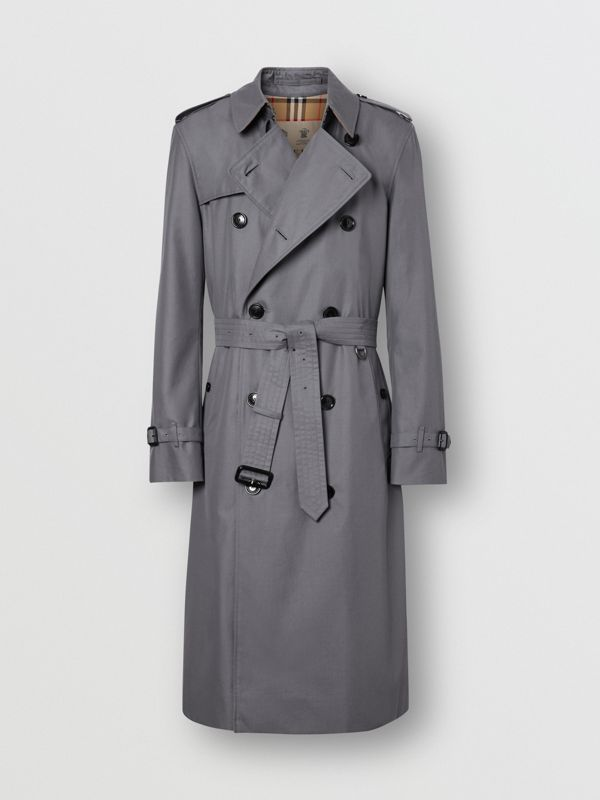 The Long Chelsea Heritage Trench Coat in Mid Grey - Men | Burberry - cell image 3