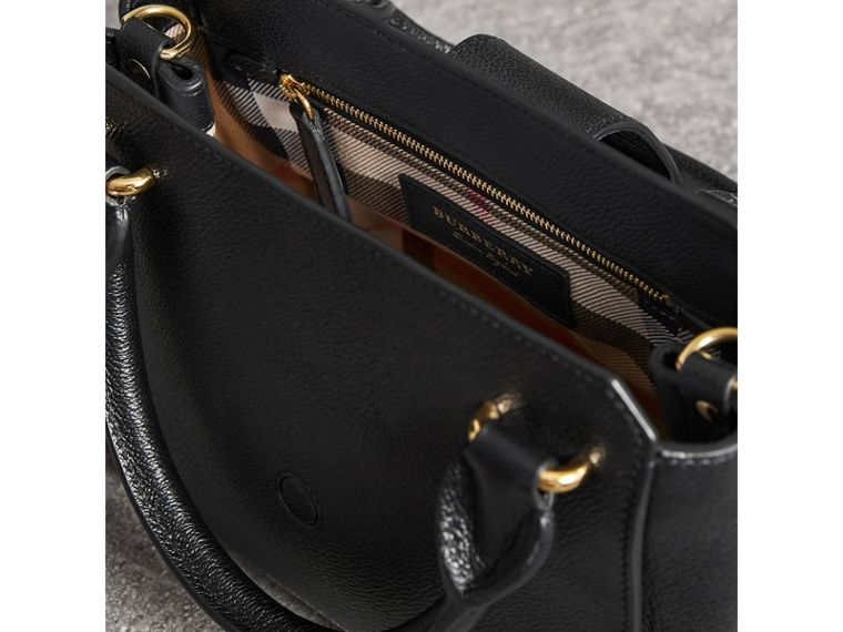 The Small Buckle Tote in Grainy Leather in Black - Women | Burberry - cell image 4