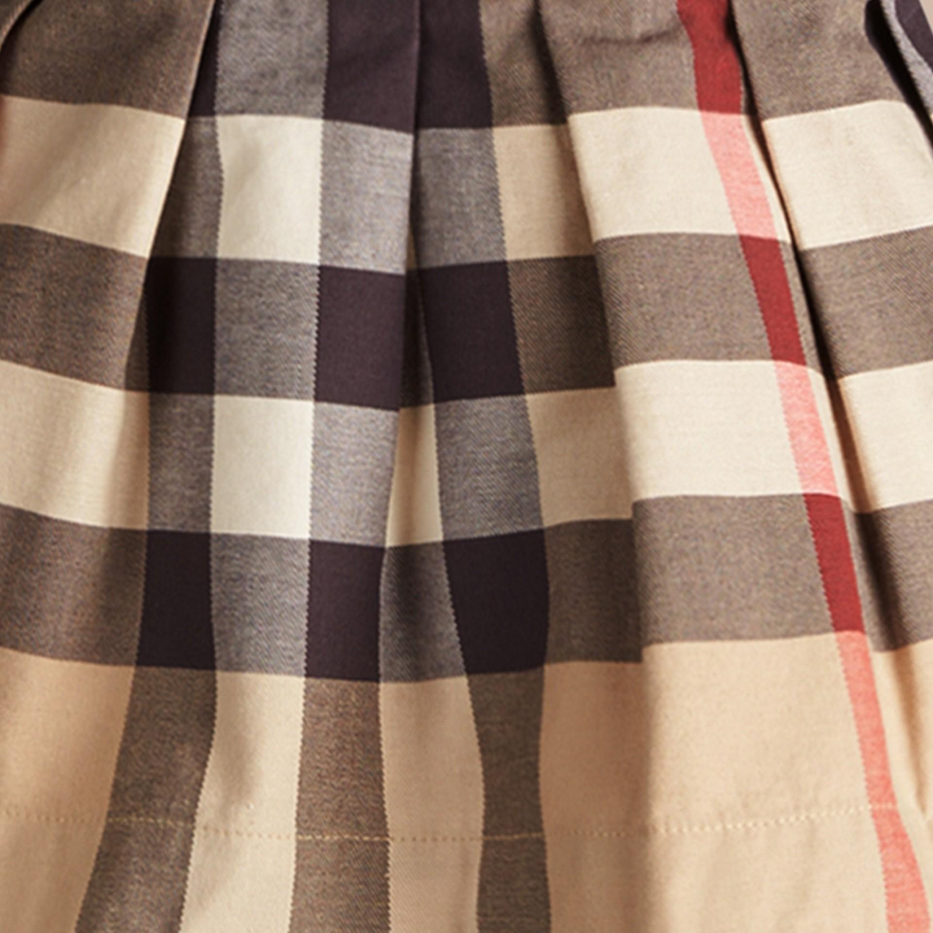 Nouveau check classique Jupe en coton check à bretelles amovibles - photo de la galerie 2