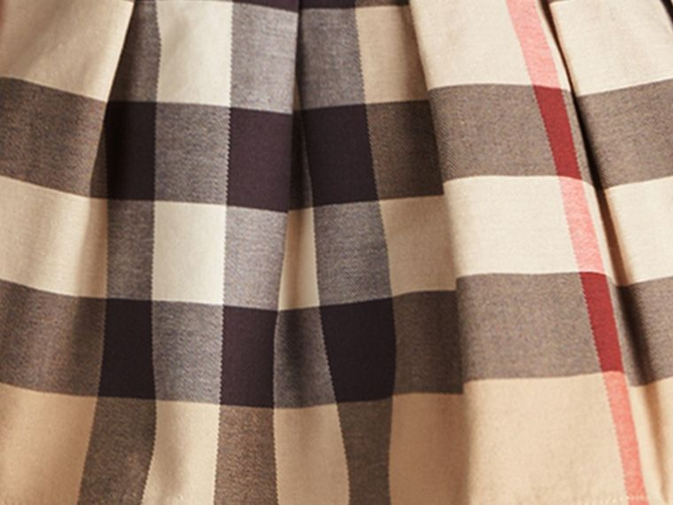 New classic check Check Cotton Skirt with Detachable Straps - cell image 1