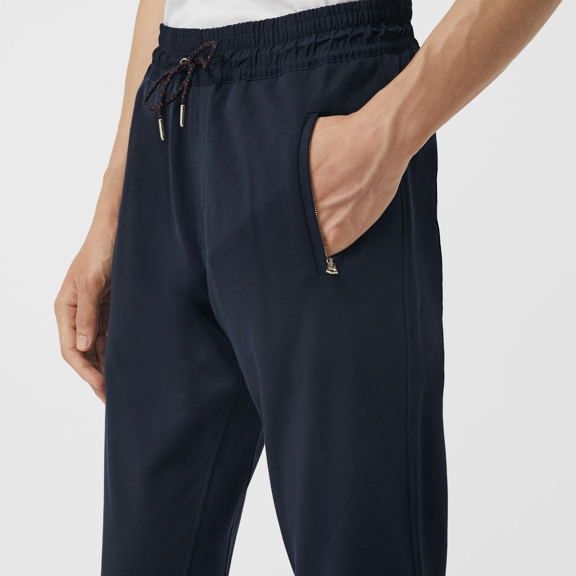 Cotton Sweatpants in Navy - Men | Burberry United Kingdom - gallery image 1