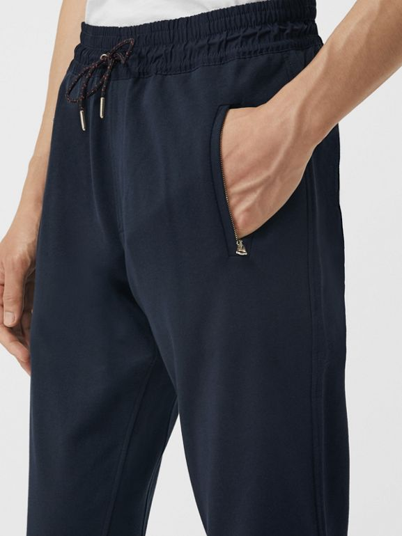 Cotton Sweatpants in Navy - Men | Burberry United Kingdom - cell image 1