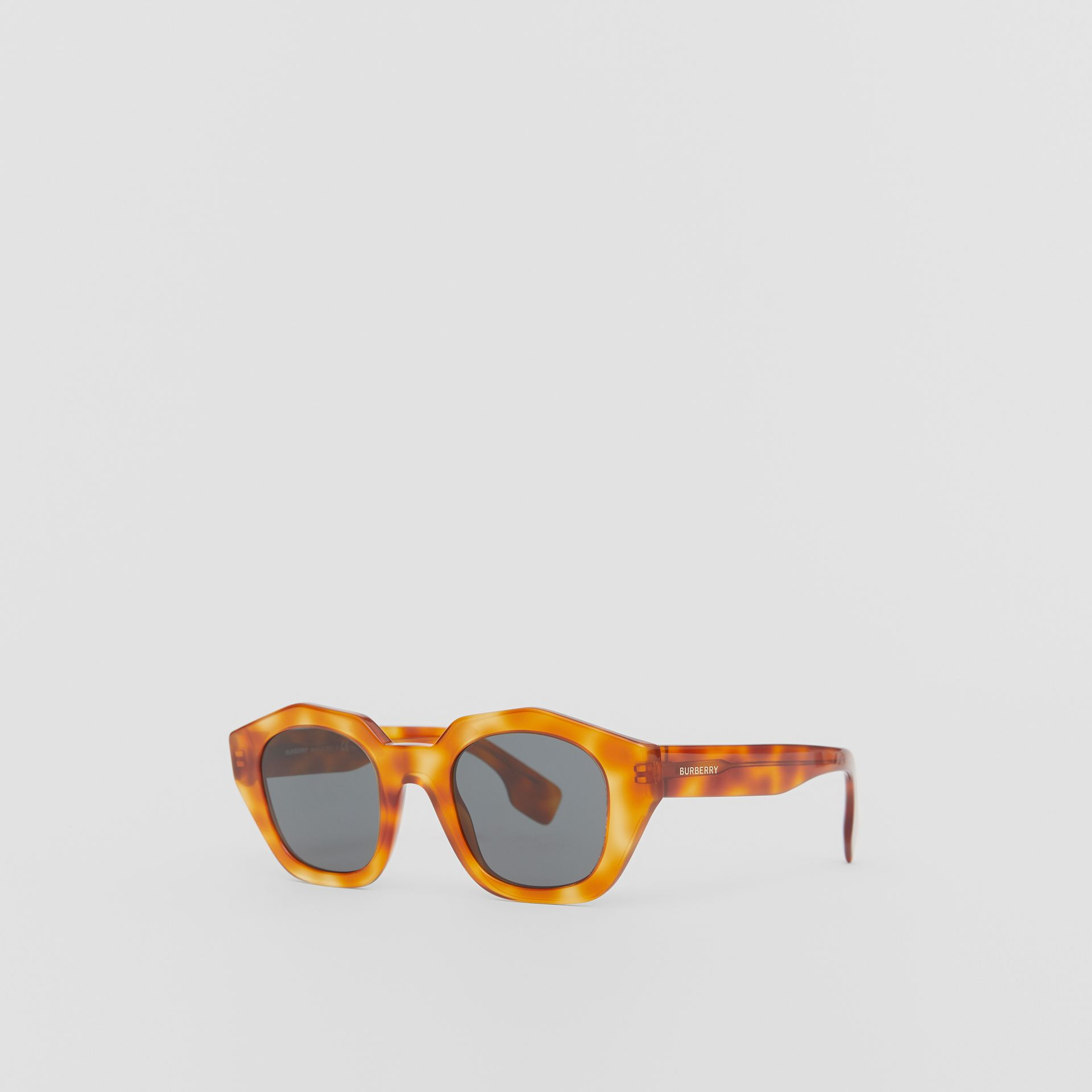 Geometric Frame Sunglasses in Tortoiseshell Amber - Women | Burberry United Kingdom - gallery image 5