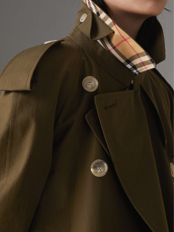 The Westminster Heritage Trench Coat in Dark Military Khaki - Women | Burberry - cell image 1