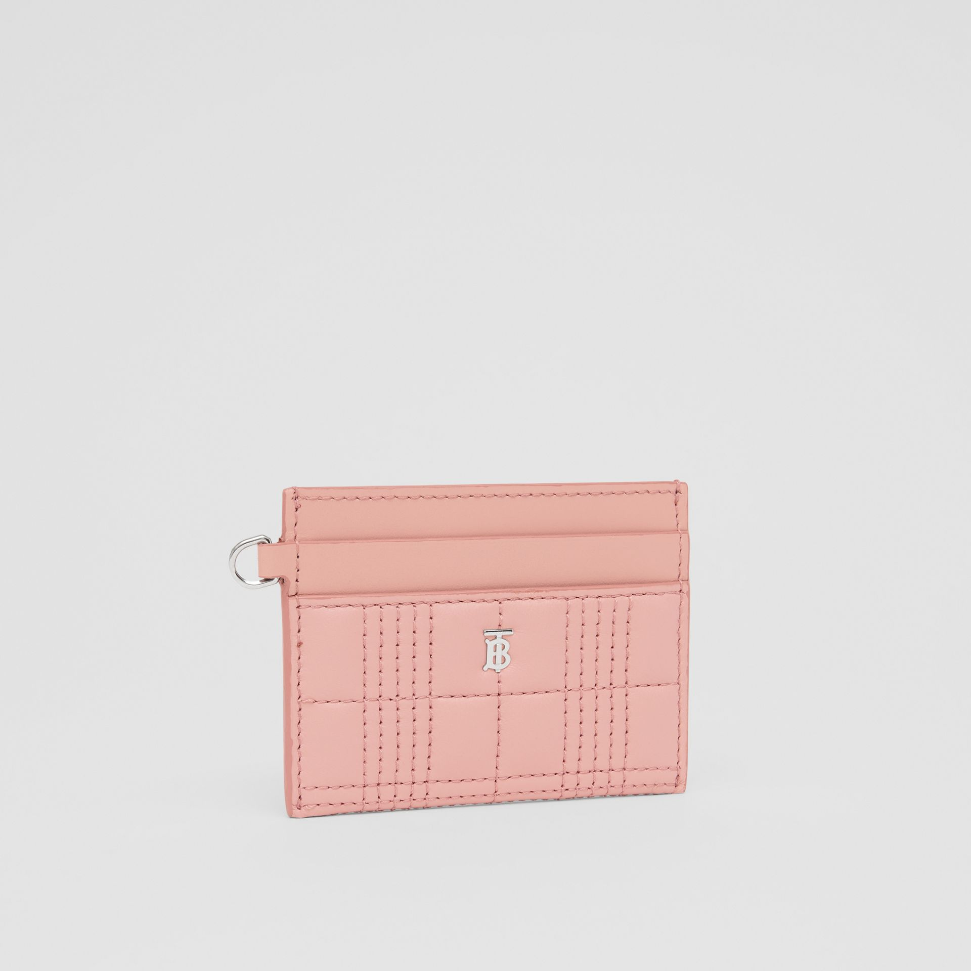 Monogram Motif Quilted Lambskin Card Case in Blush Pink - Women | Burberry - gallery image 3