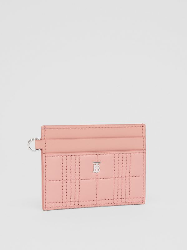 Monogram Motif Quilted Lambskin Card Case in Blush Pink - Women | Burberry - cell image 3