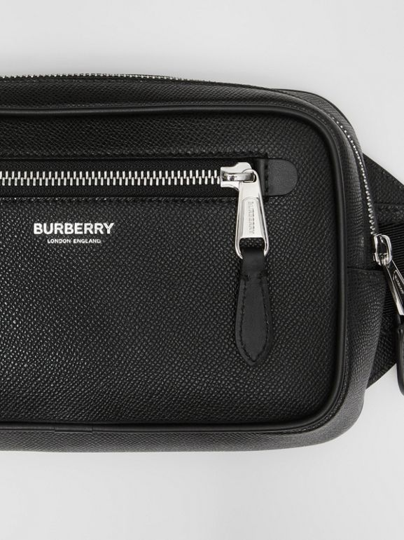 Grainy Leather Bum Bag in Black - Men | Burberry - cell image 1