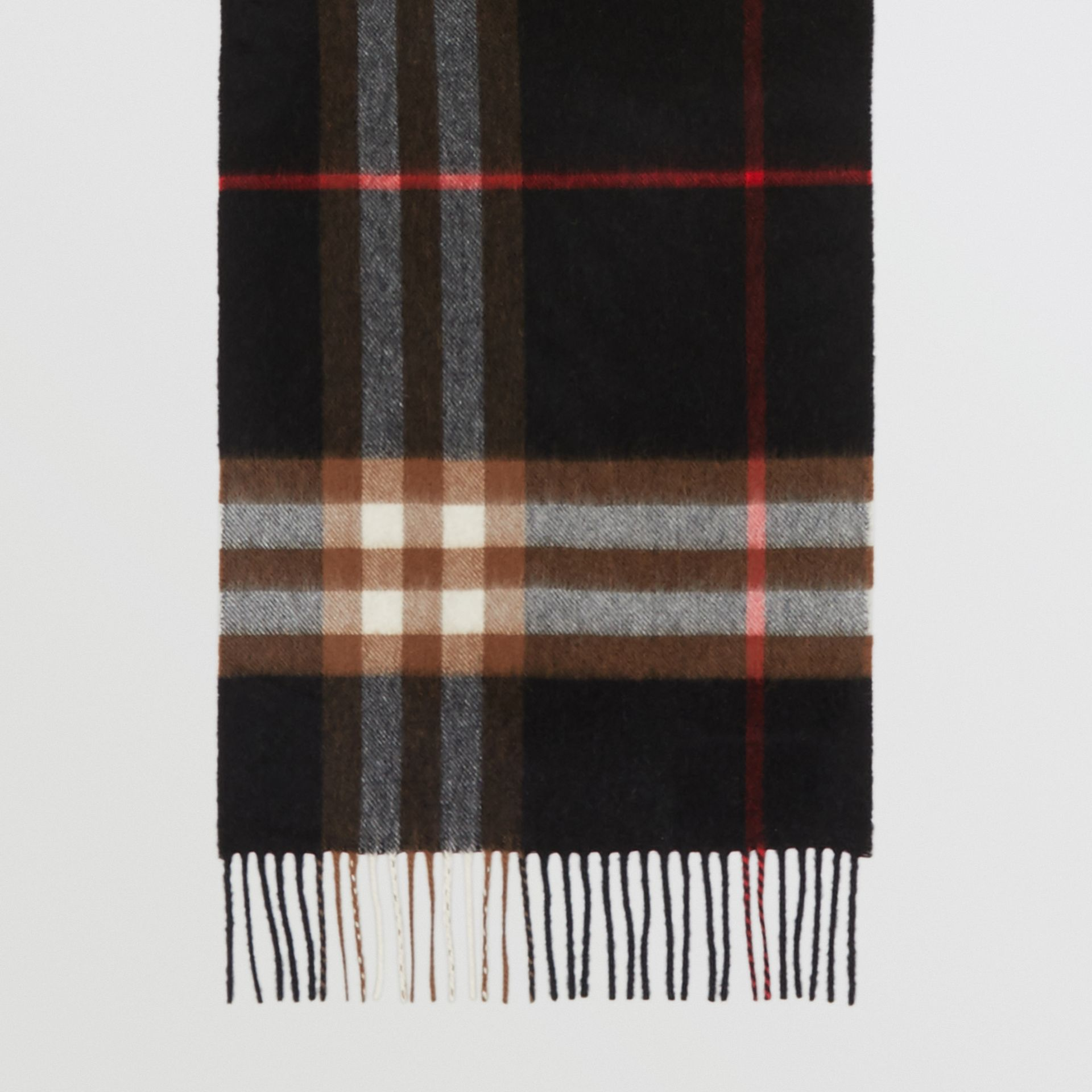 The Classic Check Cashmere Scarf in Indigo/mid Camel | Burberry - gallery image 2