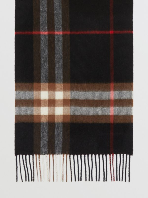 The Classic Check Cashmere Scarf in Indigo/mid Camel | Burberry - cell image 2