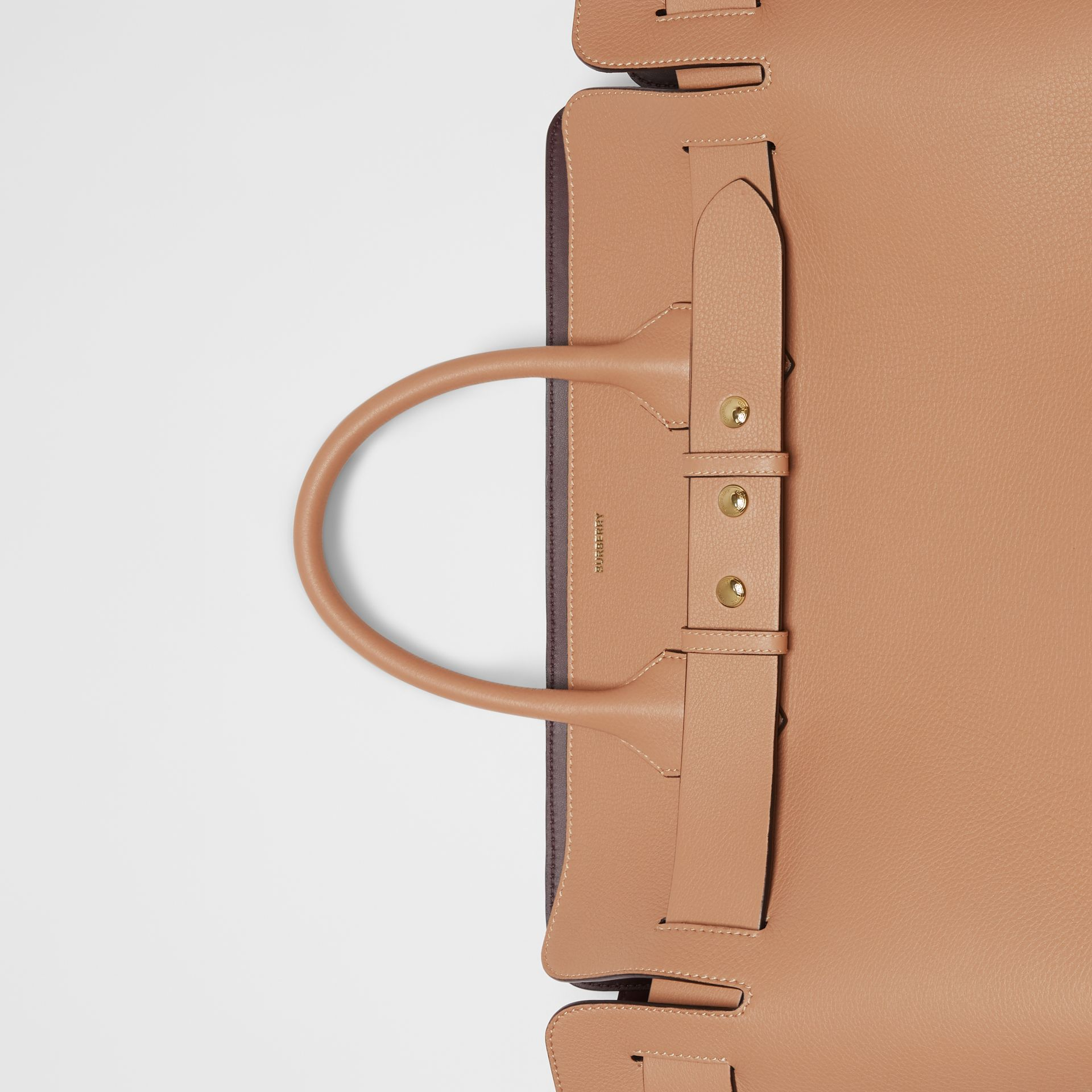 The Large Leather Triple Stud Belt Bag in Light Camel - Women | Burberry United Kingdom - gallery image 1
