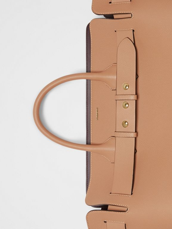 The Large Leather Triple Stud Belt Bag in Light Camel - Women | Burberry United States - cell image 1