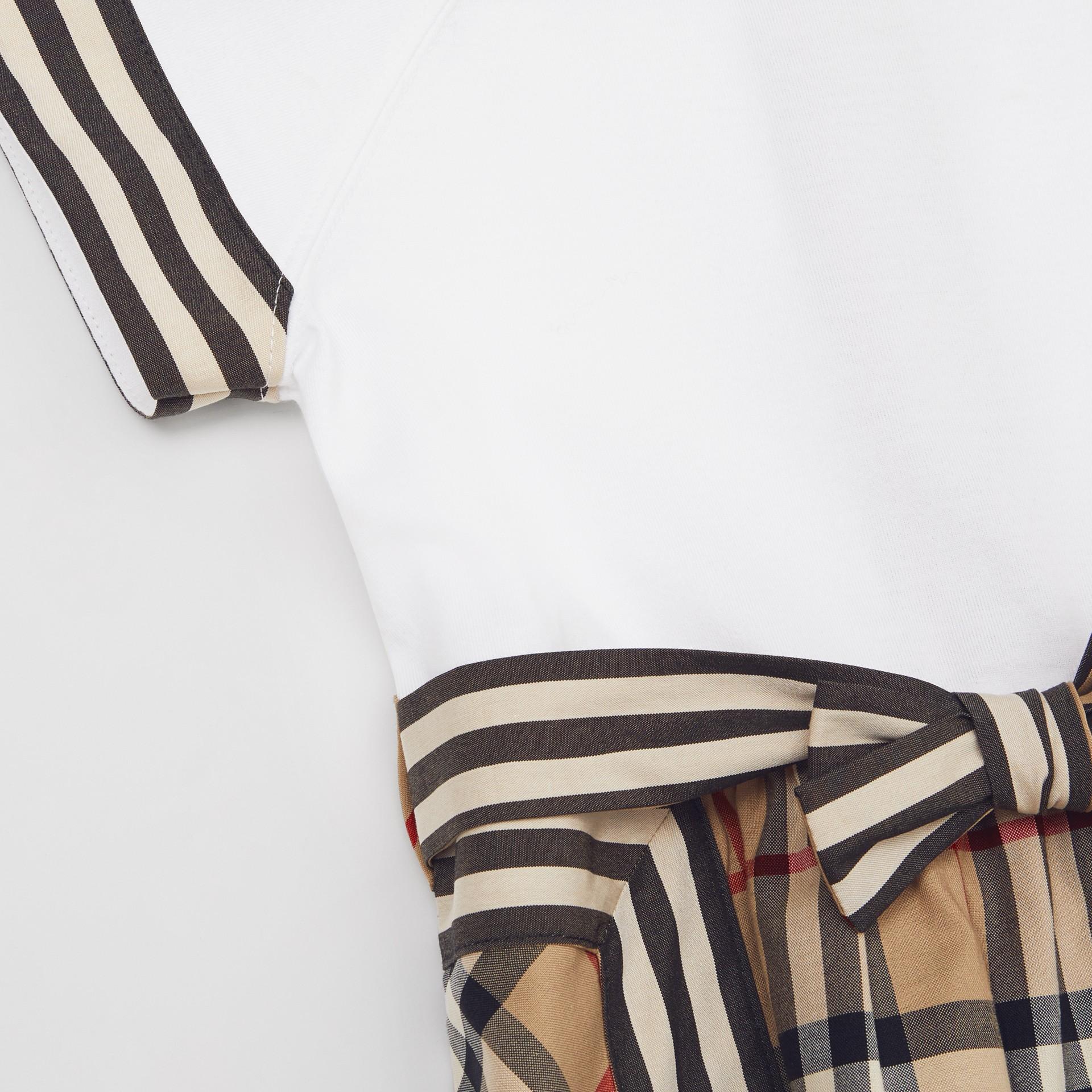 Vintage Check Detail Cotton Dress in Archive Beige - Children | Burberry United Kingdom - gallery image 1
