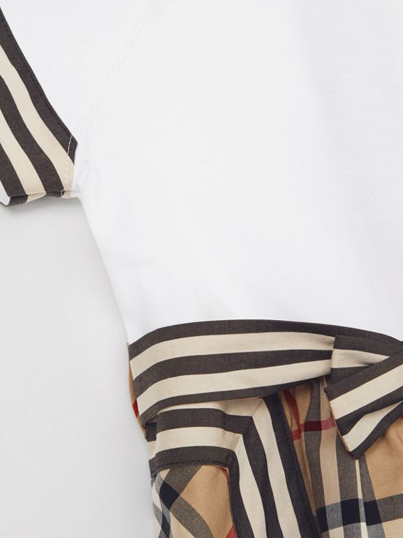 Vintage Check Detail Cotton Dress in Archive Beige - Children | Burberry United Kingdom - cell image 1