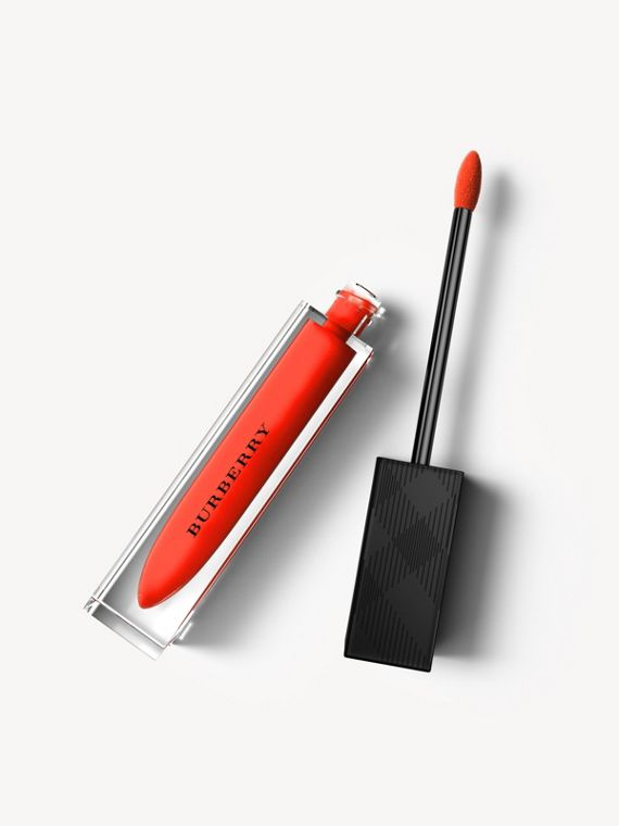 Batom líquido Burberry Kisses – Tangerine Red No.35