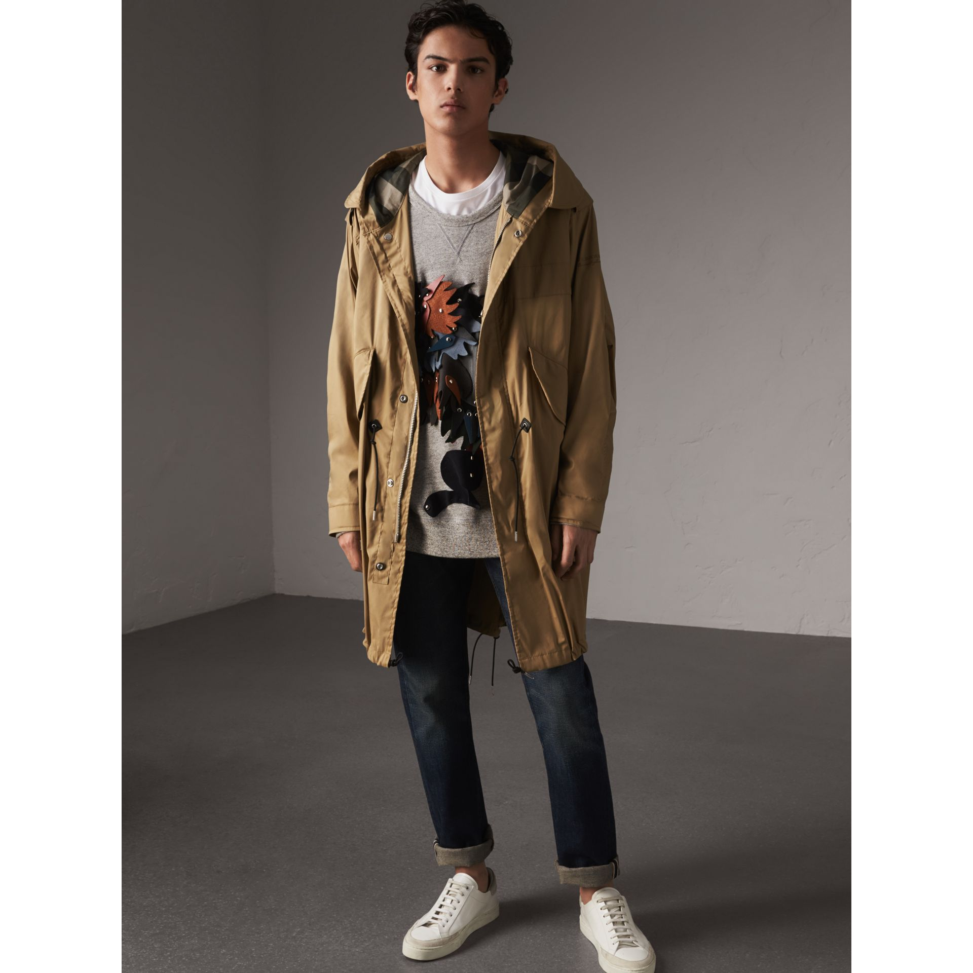 Cotton Blend Twill Parka - Men | Burberry - gallery image 1