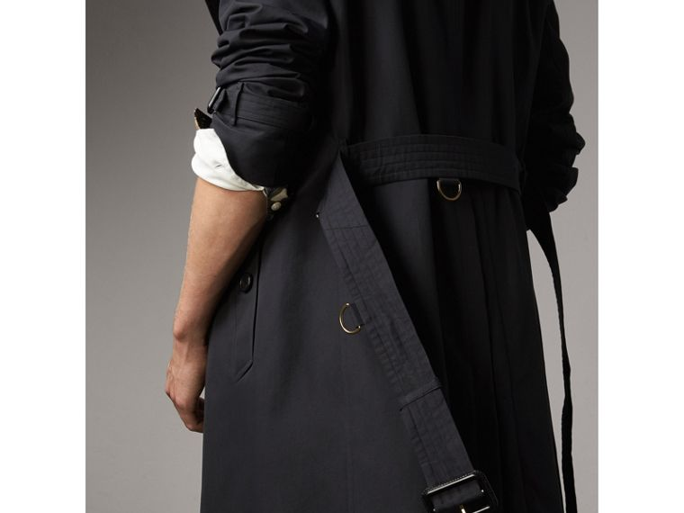 The Kensington – Long Trench Coat in Navy - Men | Burberry - cell image 4