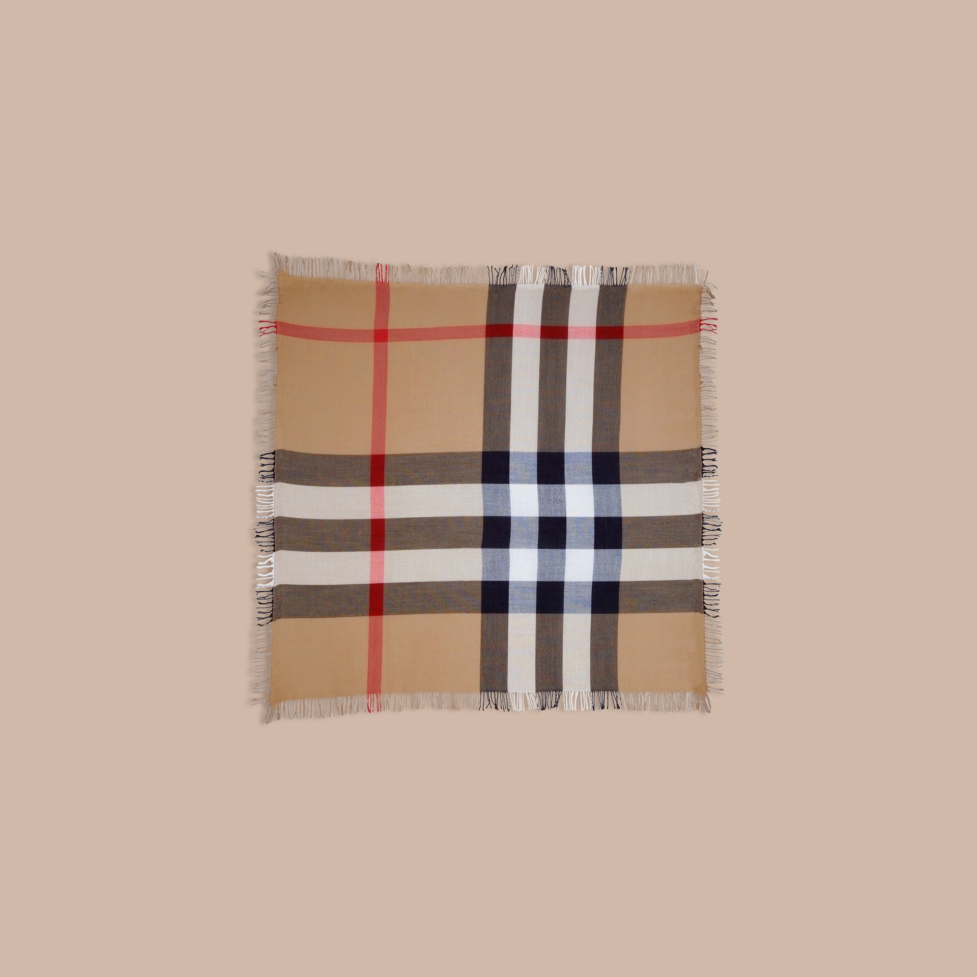 Check Wool Square - Large in House | Burberry Canada - gallery image 3