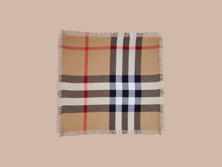 Check Wool Square - Large in House | Burberry - cell image 2